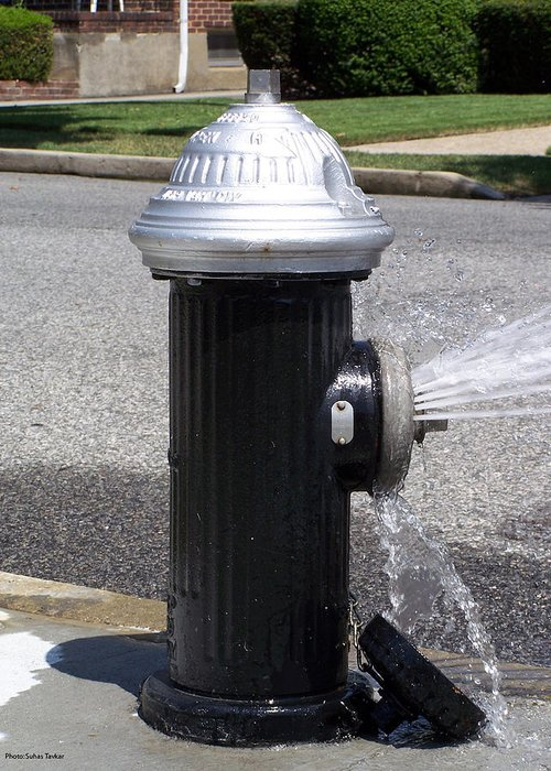 Fire Hydrants Greeting Card featuring the relief Open Fire Hydrant by Suhas Tavkar