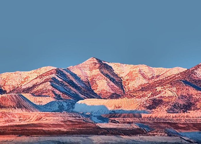 Oquirrh Mountains Greeting Card featuring the photograph Oquirrh Mountains Utah First Snow by Tracie Kaska
