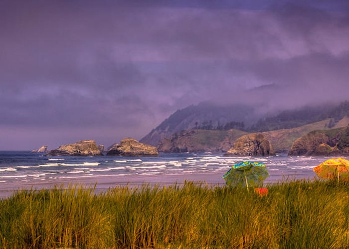 Cannon Beach Greeting Card featuring the photograph Oregon Seascape by David Patterson