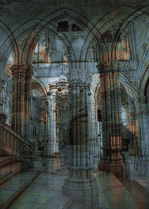 Architecture Greeting Card featuring the photograph Palace Hall by Angel Jesus De la Fuente