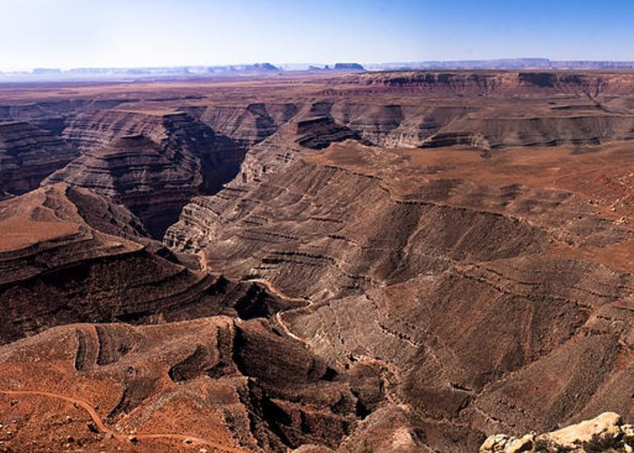 Panoramic Greeting Card featuring the photograph Panormaic View Of Canyonland by Robert Bales