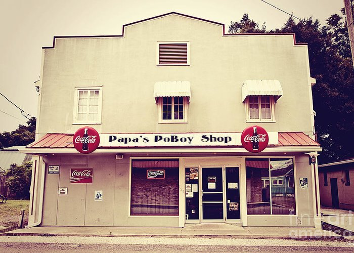 Napoleonville Greeting Card featuring the photograph Papa's Poboy's by Scott Pellegrin