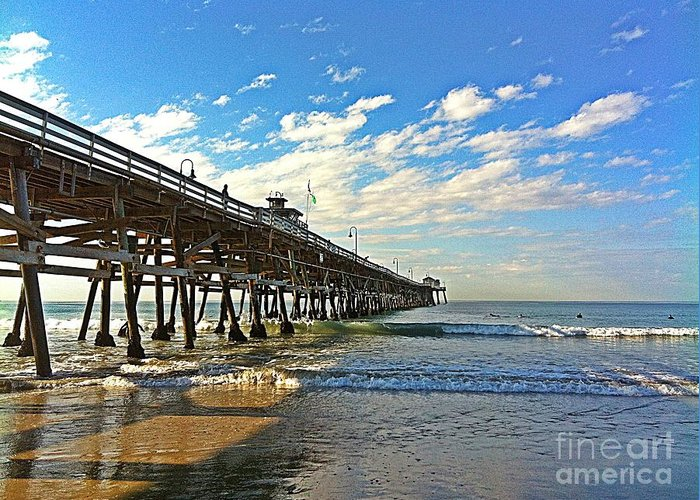 San Clemente Pier Greeting Card featuring the photograph Paradise At The Pier by Traci Lehman