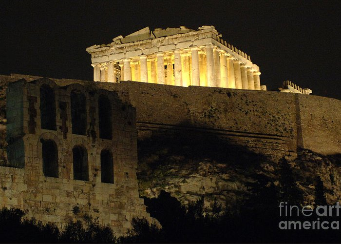 Parthenon Greeting Card featuring the photograph Parthenon Athens by Bob Christopher