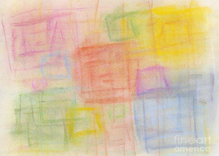 Abstract Greeting Card featuring the pastel Pastel Oct 2012 by Igor Kislev