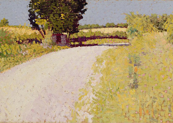 Lane Greeting Card featuring the painting Path In The Country by Charles Angrand