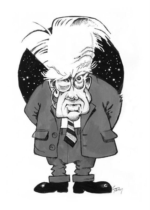 Patrick Moore Greeting Card featuring the photograph Patrick Moore, British Astronomer by Gary Brown