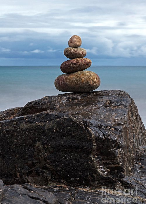 Pebble Sculpture Greeting Card featuring the photograph Pebble Sculpture by Richard Thomas
