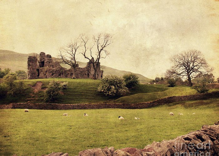 Pendragon Castle Greeting Card featuring the photograph Pendragon Castle by Linde Townsend