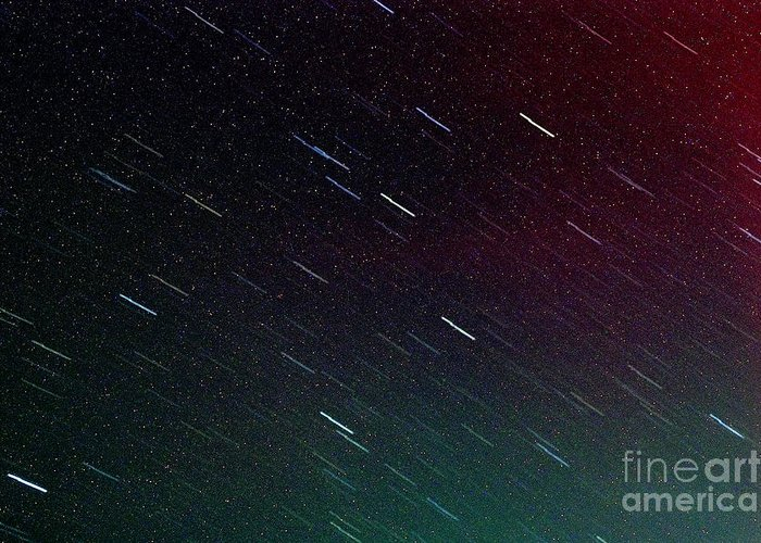 Meteor Greeting Card featuring the photograph Perseid Meteor Shower by Thomas R Fletcher