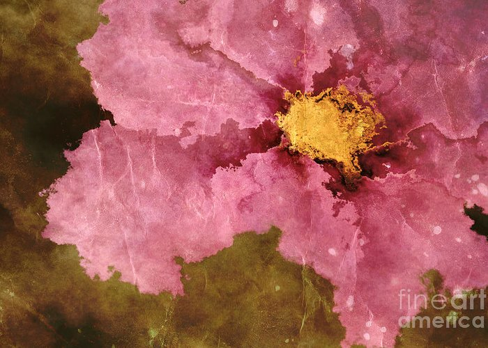 Flower Greeting Card featuring the photograph Petaline - Ar01bt04c2 by Variance Collections