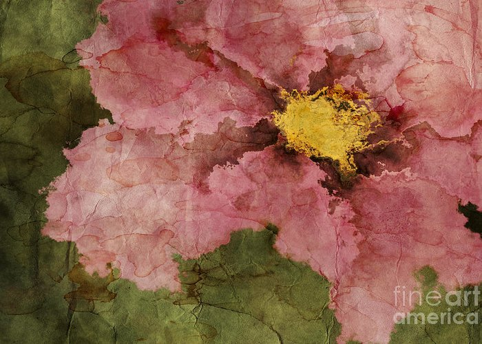 flower Art Greeting Card featuring the digital art Petaline - Ar01bt05 by Variance Collections