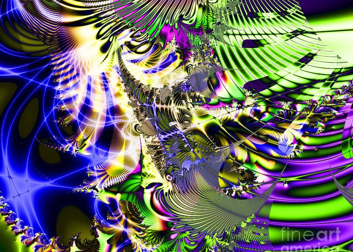 Fractal Greeting Card featuring the digital art Phantasm by Wingsdomain Art and Photography