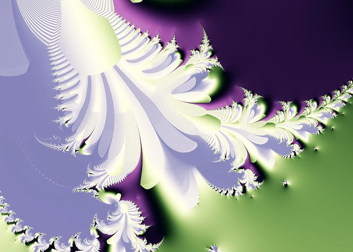 Fractal Greeting Card featuring the digital art Phantom by Wingsdomain Art and Photography