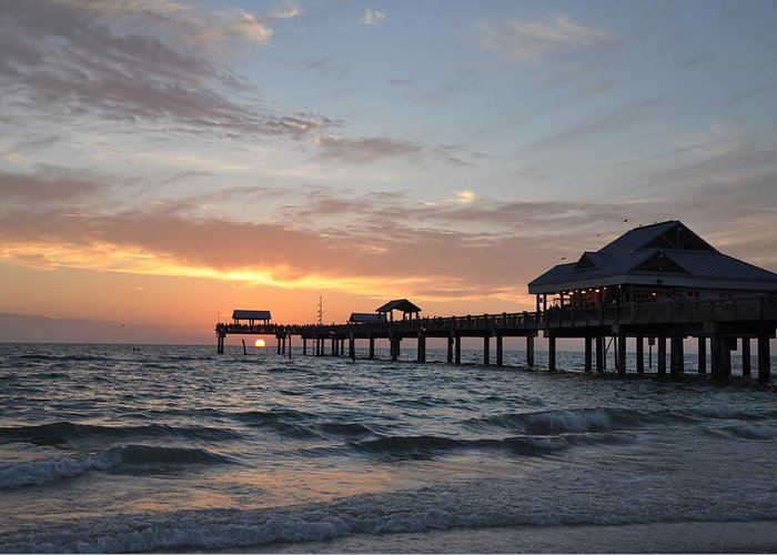 Pier 60 Clearwater Beach Florida Greeting Card featuring the photograph Pier 60 Clearwater Beach Florida by Bill Cannon