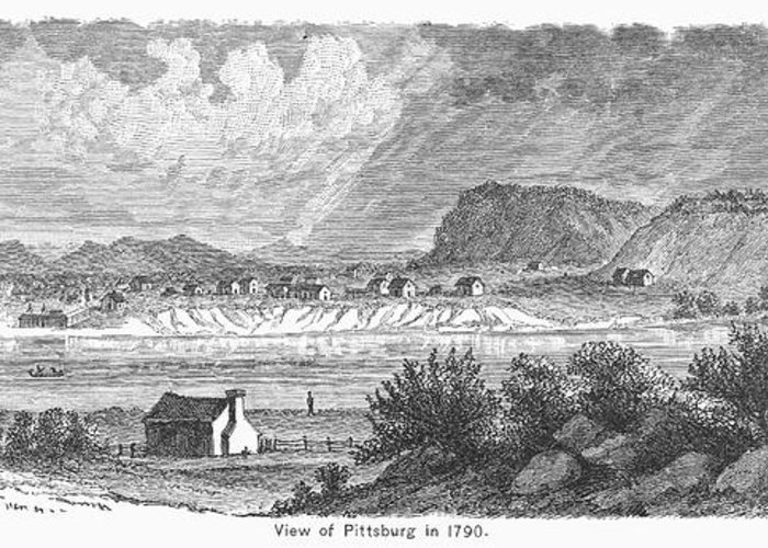 1790 Greeting Card featuring the photograph Pittsburgh, 1790 by Granger