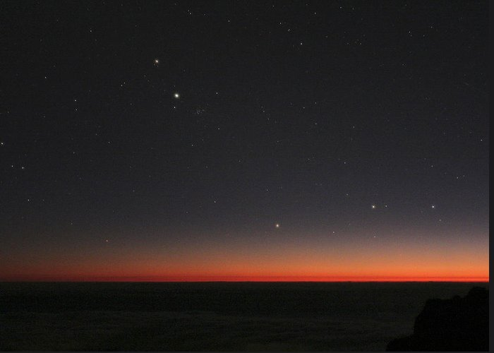 Gemini Greeting Card featuring the photograph Planetary Conjunction, Optical Image by Eckhard Slawik