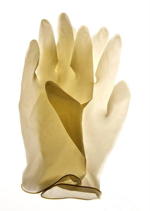Views Greeting Card featuring the photograph Plastic Gloves by Bernard Jaubert