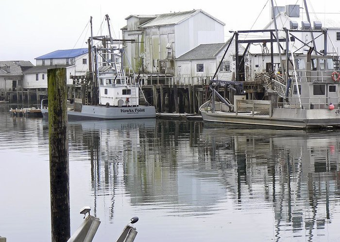 Fishing Greeting Card featuring the photograph Port Of Nahcotta by Pamela Patch
