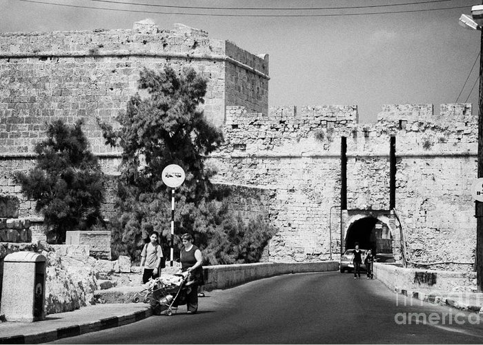 Famagusta Greeting Card featuring the photograph Porta Di Limisso Old Land Limassol Gate In The Old City Walls Famagusta by Joe Fox