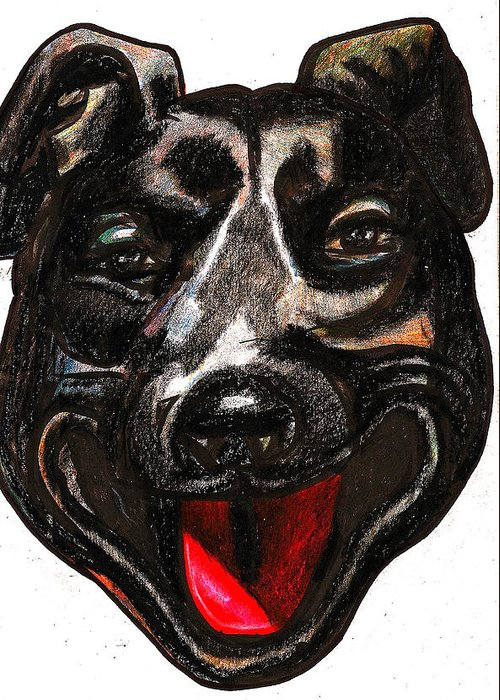 Dog Greeting Card featuring the painting Portrait Of A Pooch by Al Goldfarb