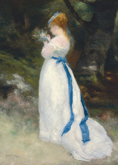 Portrait Of Lise Greeting Card featuring the painting Portrait Of Lise  by Pierre Auguste Renoir