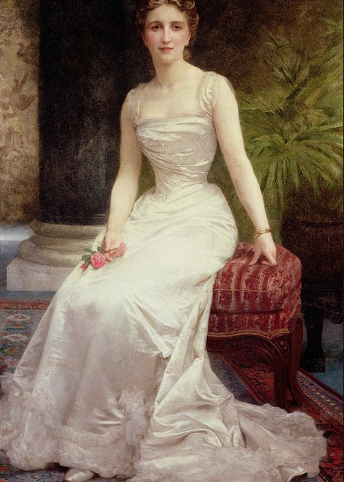 Portrait Of Madame Olry-roederer Greeting Card featuring the painting Portrait Of Madame Olry-roederer by William-Adolphe Bouguereau