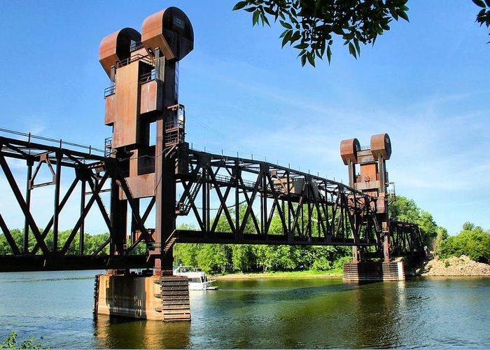 Prescott Greeting Card featuring the photograph Prescott Lift Bridge by Kristin Elmquist
