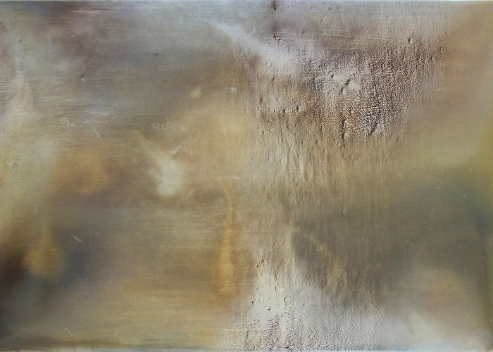 Abstract Expression Oil Painting Texture Sublime Greeting Card featuring the painting Prologue by Ian Hemingway