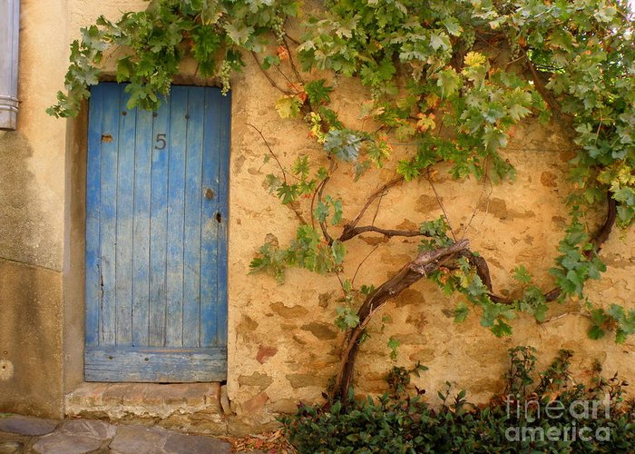 Door Greeting Card featuring the photograph Provence Door 5 by Lainie Wrightson