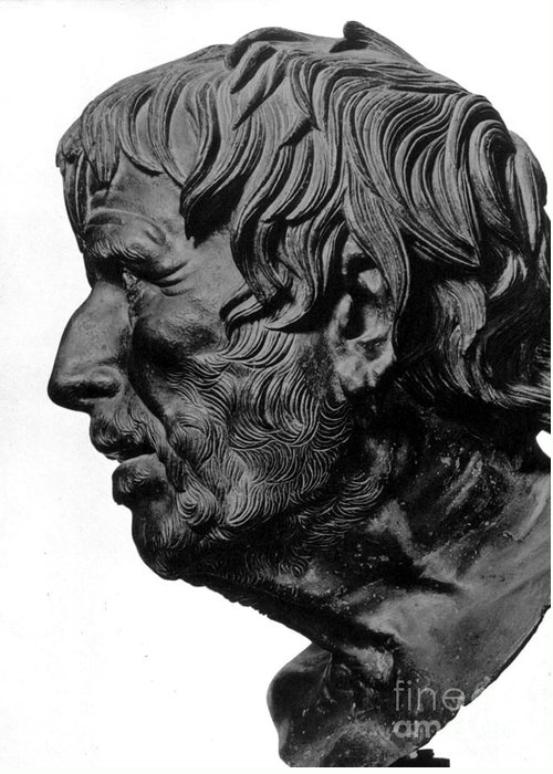 2nd Century B. C. Greeting Card featuring the photograph Pseudo-seneca by Granger