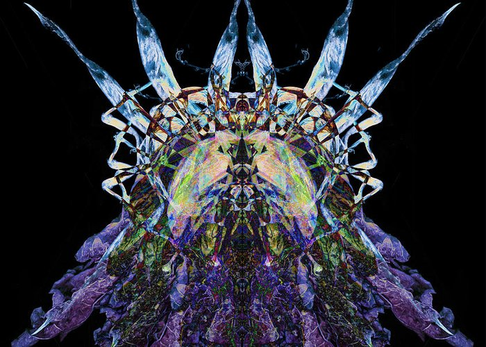 Psychedelic Greeting Card featuring the photograph Psychedelic Spines by David Kleinsasser