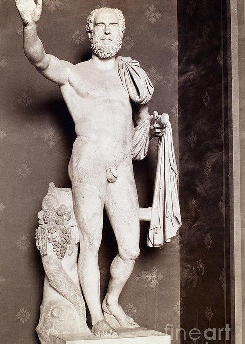 3rd Century Greeting Card featuring the photograph Pupienus Maximus (c178-238) by Granger