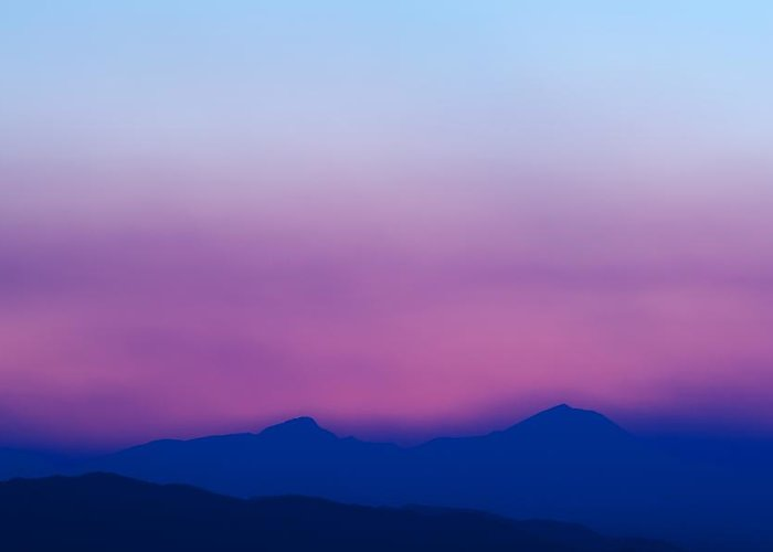 Sunset Greeting Card featuring the photograph Purple Haze by Kevin Bone