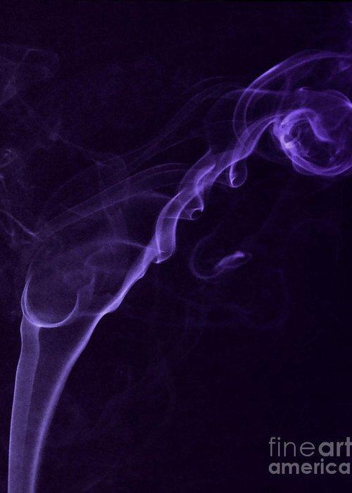 Purple Haze Greeting Card featuring the photograph Purple Haze by Paul Ward