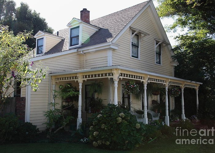 House Greeting Card featuring the photograph Quaint House Architecture - Benicia California - 5d18793 by Wingsdomain Art and Photography