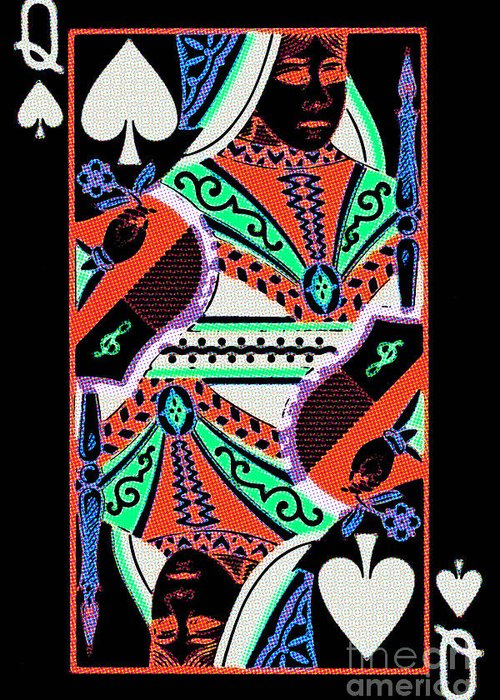 Card Greeting Card featuring the photograph Queen Of Spades by Wingsdomain Art and Photography