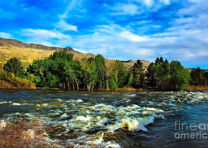 Idaho Greeting Card featuring the photograph Raging River by Robert Bales