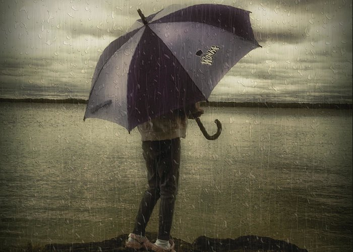 Lake Greeting Card featuring the photograph Rain Day 2 by Heather Rivet