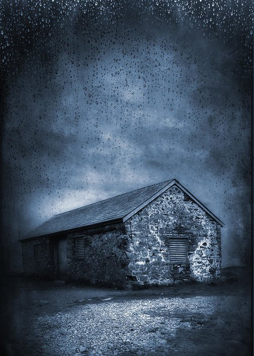 Abandoned Greeting Card featuring the photograph Rain by Svetlana Sewell
