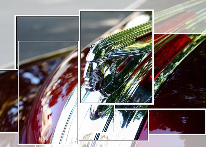 Greeting Card featuring the photograph Red Pontiac Hood Ornament by Cathie Tyler