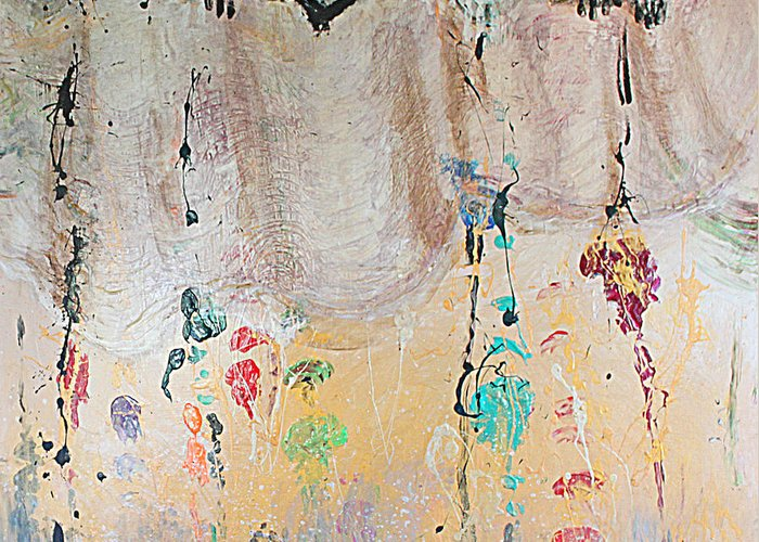 Painting Greeting Card featuring the mixed media Releasing Inner Cords by Catherine Foster