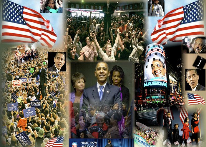 Barack Greeting Card featuring the digital art Respectfully Yours..... Mr. President 2 by Terry Wallace