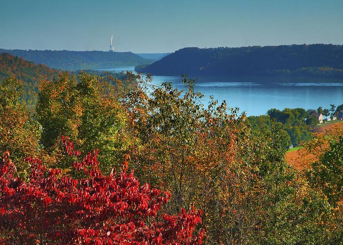 Scenic Greeting Card featuring the photograph River View V by Steven Ainsworth