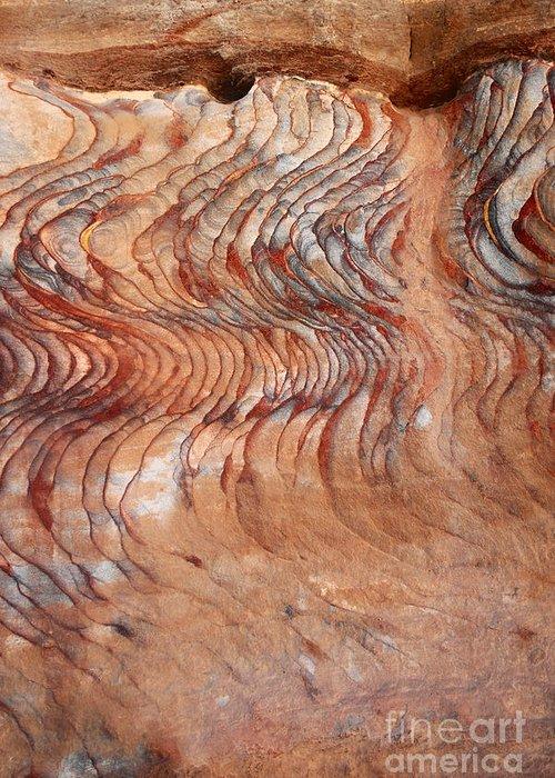 Petra Greeting Card featuring the photograph Rock Formation At Petra Jordan by Eva Kaufman