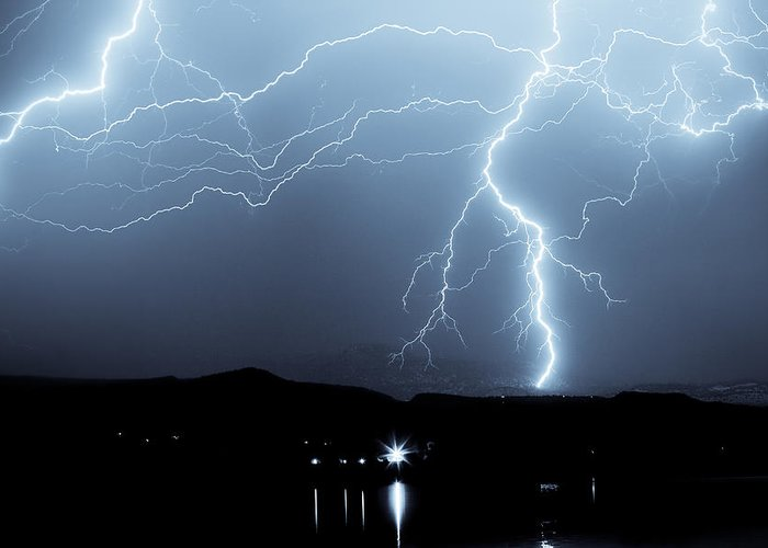 Bo Insogna Greeting Card featuring the photograph Rocky Mountain Storm by James BO Insogna