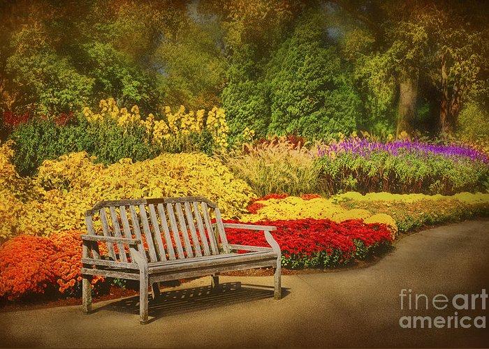 Botanical Greeting Card featuring the photograph Romantic Flower Garden by Cheryl Davis