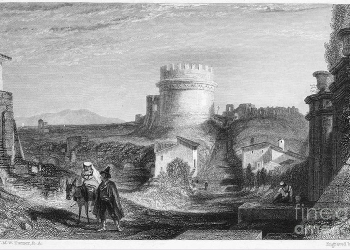 1833 Greeting Card featuring the photograph Rome: Appian Way, 1833 by Granger