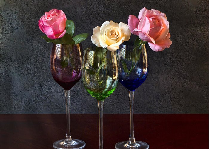 Rose Greeting Card featuring the photograph Rose Colored Glasses by Peter Chilelli