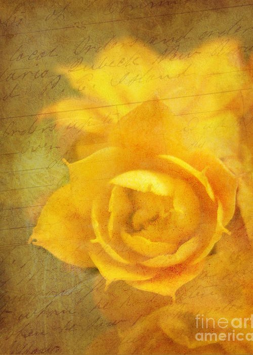 Yellow Greeting Card featuring the photograph Roses For Remembrance by Judi Bagwell